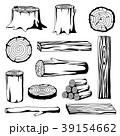 木材 材木 丸太のイラスト 39154662