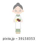 割烹着のおばあちゃん 手作りおはぎ 39158353