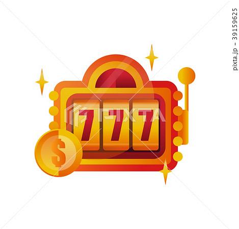 Colorful logo design for casino. Slot machine with 39159625