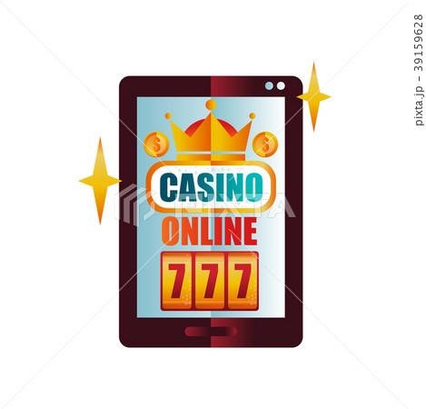 Online casino on digital tablet screen. Slot 39159628