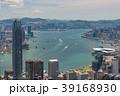 ビクトリアピークから望む香港の風景 晴天 39168930