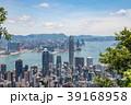 ビクトリアピークから望む香港の風景 晴天 39168958