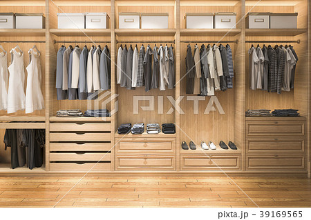 modern wardrobe nice tone wood walk in closet 39169565