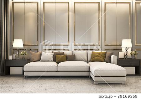 nice soft sofa near luxury golden decorのイラスト素材 39169569 pixta