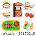 カジノ カジノの ポーカーのイラスト 39170215