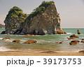 海 岩山 砂浜の写真 39173753