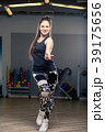 active young dancer during a dance in the gym 39175656