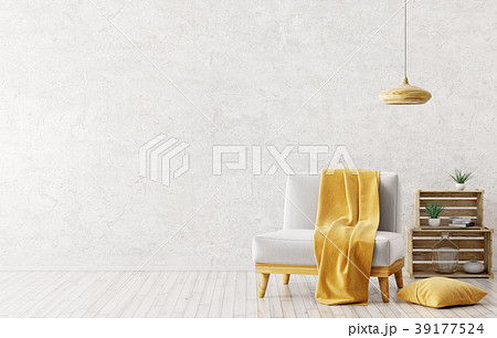 Interior of living room with armchair 3d rendering 39177524