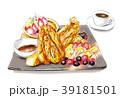 フレンチトースト デザート 食べ物のイラスト 39181501
