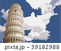 ピサの斜塔 イラスト 39182988