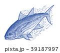 まぐろ マグロ 魚のイラスト 39187997