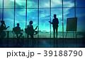 人影 影 シルエットのイラスト 39188790