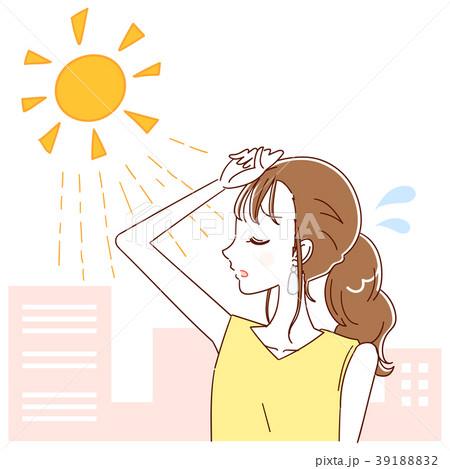 太陽の光 女性のイラスト 39188832