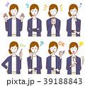女性 カジュアル 表情のイラスト 39188843