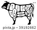 牛肉 ビーフ 部位 白背景 39192662