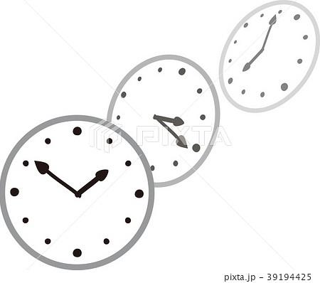 時の流れのイメージ時計のイラスト素材 39194425 Pixta