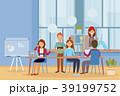 ビジネス オフィス チームワークのイラスト 39199752