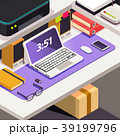 テーブル 仕事場 仕事のイラスト 39199796