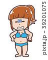 女性 人物 太ったのイラスト 39201075