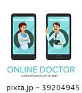 ベクトル オンライン 医者のイラスト 39204945