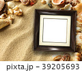 Picture frame on shells and sand background 39205693