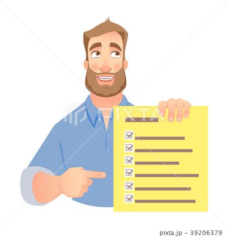 man holding checklist 39206379