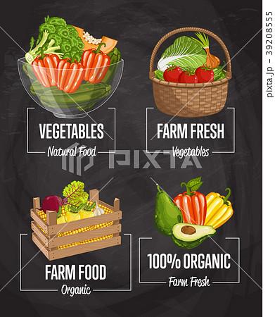Organic farm harvest concept set 39208555