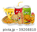 Funny fast food menu cartoon character 39208810