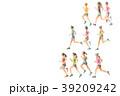 ランナー  手描き水彩 39209242