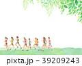 ランナー  手描き水彩 39209243