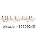 ランナー  手描き水彩 39209245