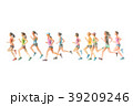 ランナー  手描き水彩 39209246