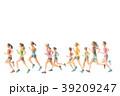 ランナー  手描き水彩 39209247
