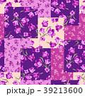 花 花柄 パッチワークのイラスト 39213600