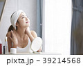 人物 女性 鏡の写真 39214568