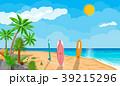 ベクトル ビーチ サーフボードのイラスト 39215296
