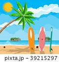 ベクトル ビーチ サーフボードのイラスト 39215297