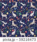 クリスマス 鹿 うさぎのイラスト 39216473
