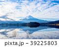 富士山 逆さ富士 河口湖の写真 39225803