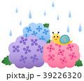梅雨 紫陽花 花のイラスト 39226320