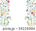 フレーム 花 葉のイラスト 39226984