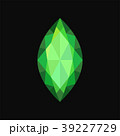 グリーン 緑色 宝石のイラスト 39227729