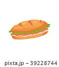 サンドイッチ サンドウィッチ チーズのイラスト 39228744