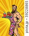 Sexy male waiter fast food restaurant 39228865