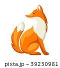 きつね キツネ 狐のイラスト 39230981