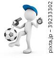 サッカー フットボール 蹴球のイラスト 39233302