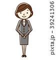 女性 ol スーツのイラスト 39241306
