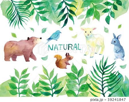 緑と動物のイラスト 39241847
