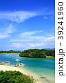 石垣島 川平湾 サンゴ礁と青い海 39241960