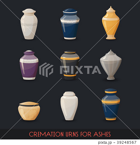 Urns for cremations, vase for cremated body ashes 39248567